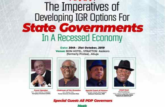PDP Governors Forum plan IGR Summit in Abuja