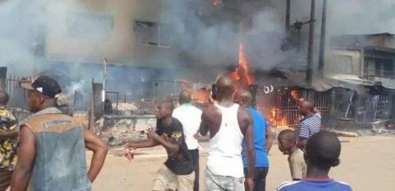 Onitsha fire: How woman who was childless for 16 years died with her baby – Eyewitness