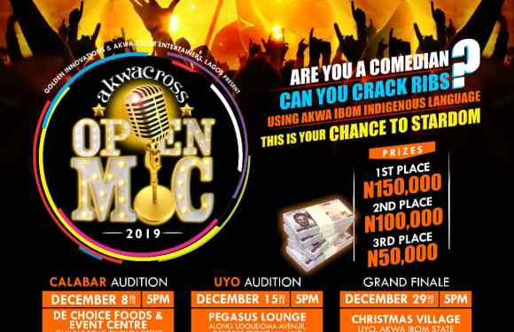 Announcing 'AkwaCross Open Mic' Challenge for Comedians (Details)