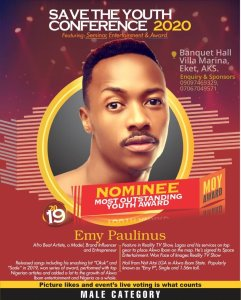 Most Outstanding Youth (MOY) (Male) – Emy P