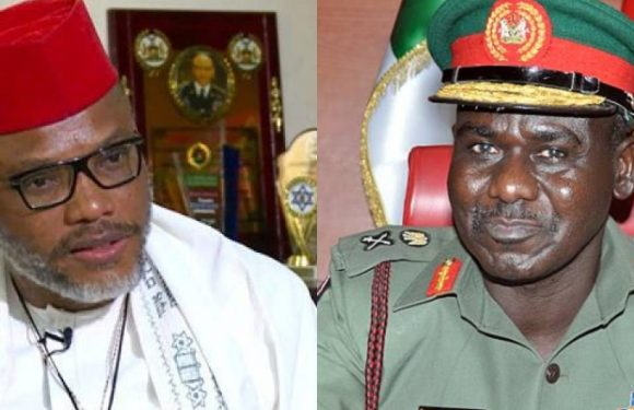 Nnamdi Kanu's Parent's Burial: IPOB leader sets trap for Army, issues fresh threats to Gen. Buratai