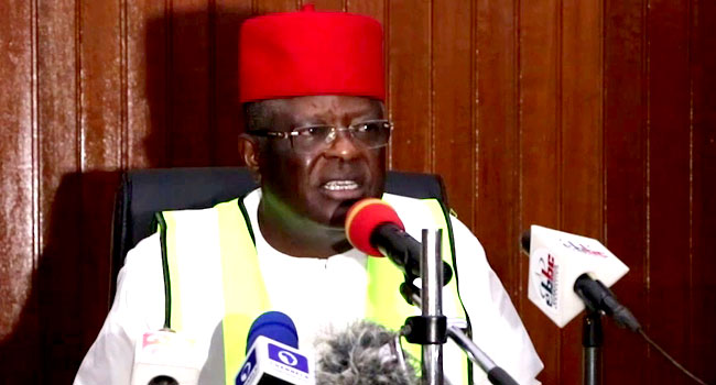 Umahi explains why he chased youths at Ogbonnaya Onu's coronation venue