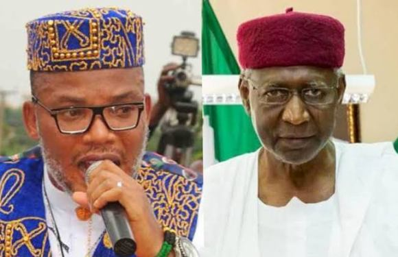 See Nnamdi Kanu's comment as Buhari's Chief of Staff, Abba Kyari dies of COVID-19