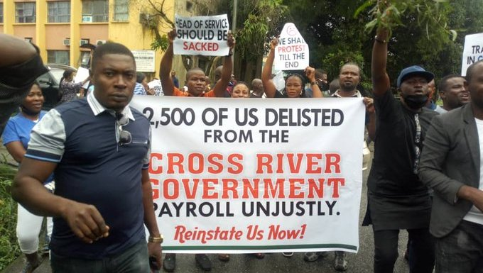 Dismissed Cross River workers shut down state