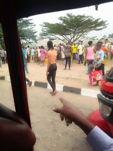 Angry mob in sets ablaze young man accused of stealing Car Battery