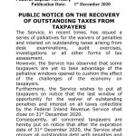 FIRS public notice on the recovery of outstanding taxes from taxpayers 9