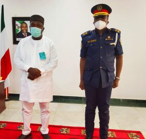 Enugu witnessing influx of people because of peace – NSCDC boss tells Gov. Ugwuanyi