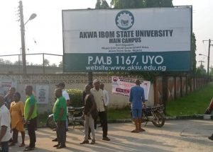 Unidentified persons block Akwa Ibom varsity gate with mock coffins, traditional injunction