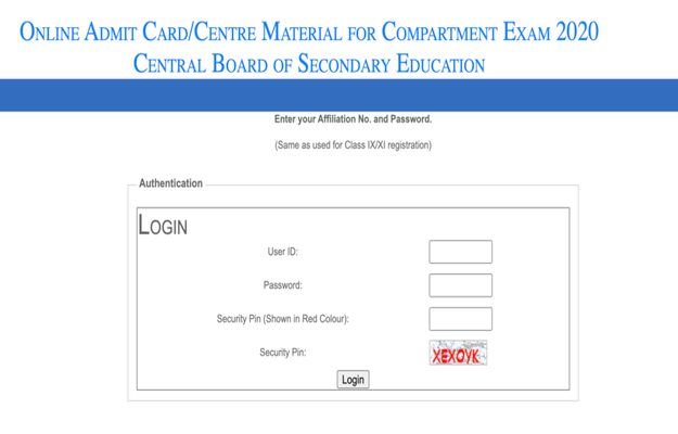 CBSE Compartment Exam 2020 Admit Card Released @ Cbse.nic.in, Direct Link Here