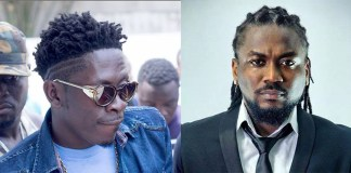 """Dancehall King, Shatta Wale has extended felicitations to his 'arch rival' and colleague musician, Samini as the year (2018) was being ushered in. The 'Freedom' hitmaker, twitted, """"happy new year…. @samini_dagaati .. Love always bro… i love your style this year but next year Ghana will see our magic… salute!!!!!."""" He also sent his happy new year messages to Sarkodie and Stonebwoy. Amid the numerous controversies and public """"insanity"""" the 'Ayoo' hitmaker remains to be one of the most cherished musicians Ghanaians cannot do without in the entertainment industry. Shatta Wale without a doubt has been the most talked about Ghanaian musician in 2017 but in spite of the heavy attention he has drawn to himself it seems to have paid off for him."""
