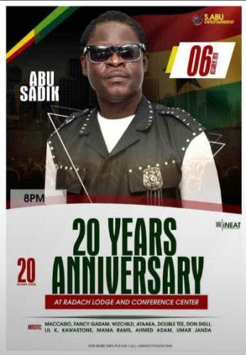 Fancy Gadam, Maccasio and Others To Storm the 20 Years Anniversary Of Legendary Musician/Actor Abu Sadik