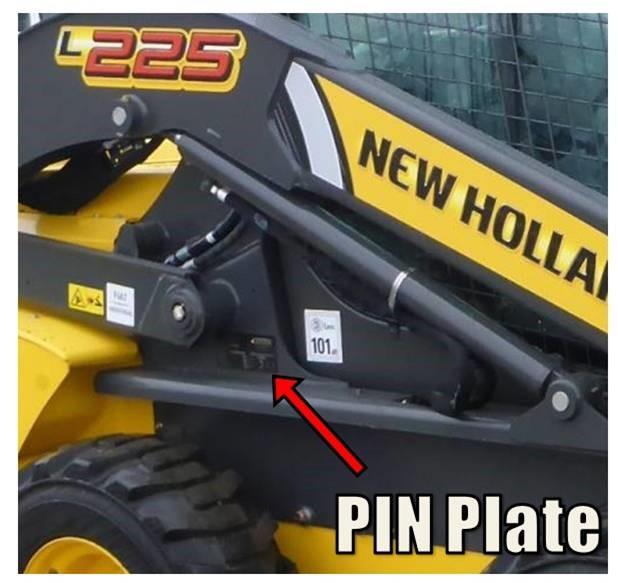 New Holland L225 PIN Detail - Not Stolen