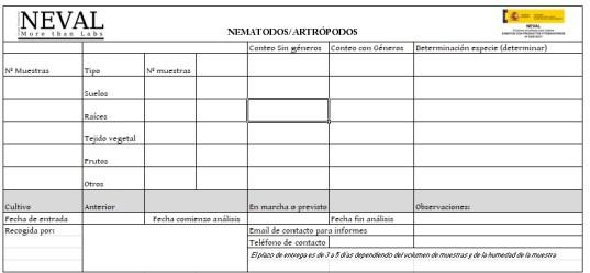 Formulario identificación nematodos