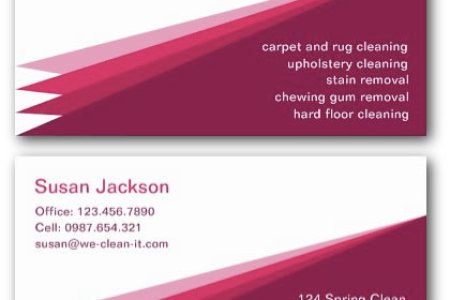 Cleaning Business Cards   Ne14 Design Carpet Cleaning Service Business Card