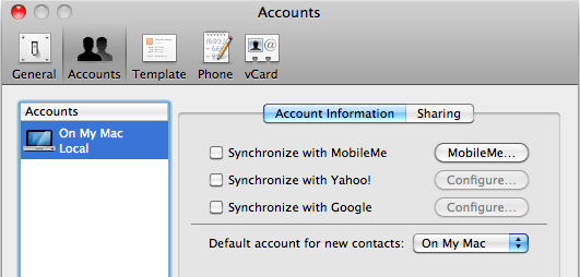 Google Sync from Apple Address Book