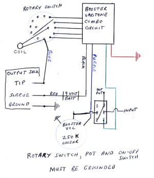 Vintage BC Rich BoosterVaritone Wiring Diagram