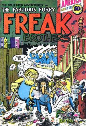 Geek Brothers: front cover of the underground comic THE COLLECTED ADVENTURES OF THE FABULOUS FURRY FREAK BROTHERS.