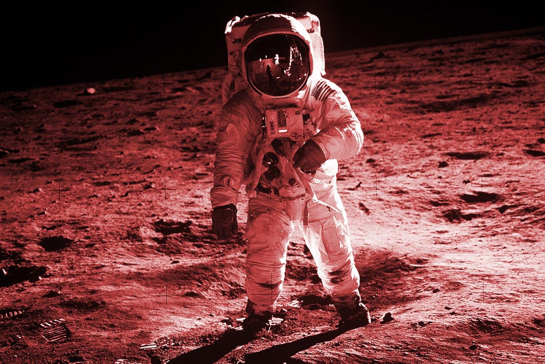 Medium IMAGE 1969 Apollo11 Aldrin 1500 red