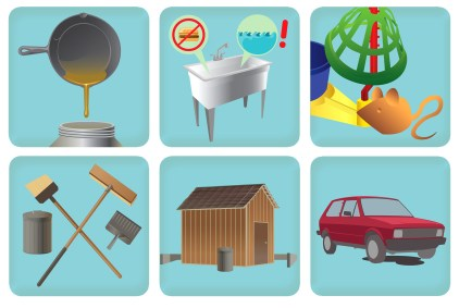 Stormwater Prevention Flyer Icons