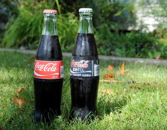 Coke in glass bottles