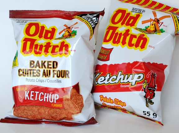 Old Dutch Ketchup Chips, Baked vs. Fried
