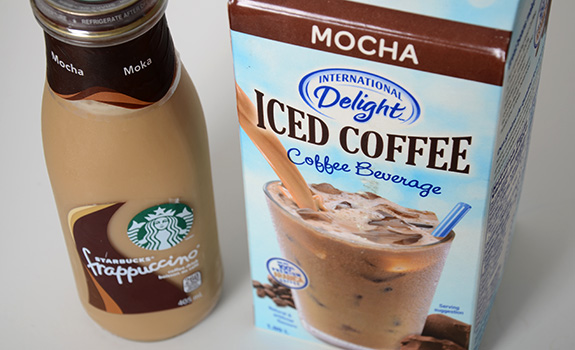 International Delight vs. Starbucks Frappuccino cold coffee beverages