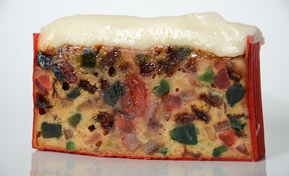 Safeway Bakery Counter light fruitcake slice