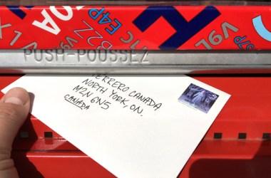 Local Canada Post mailbox