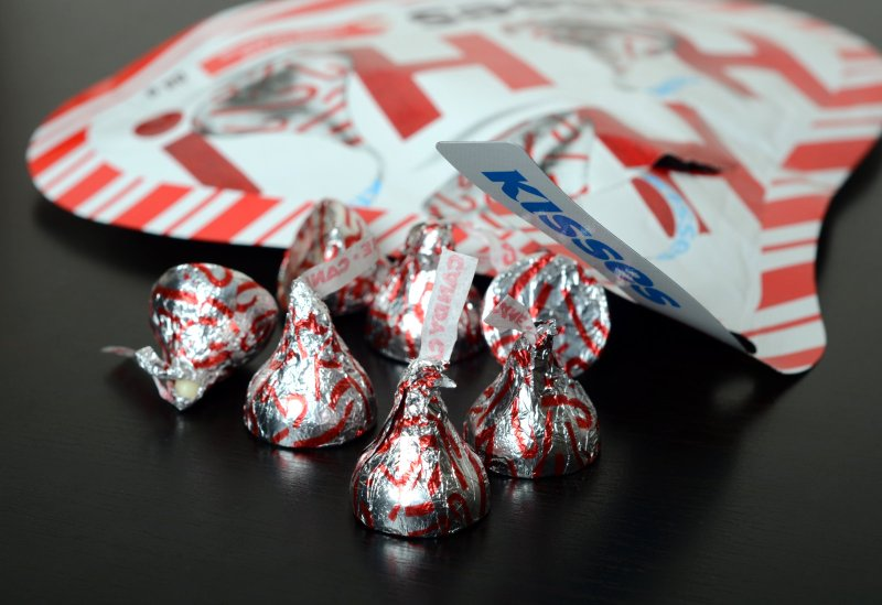 Candy Cane Hershey's Kisses
