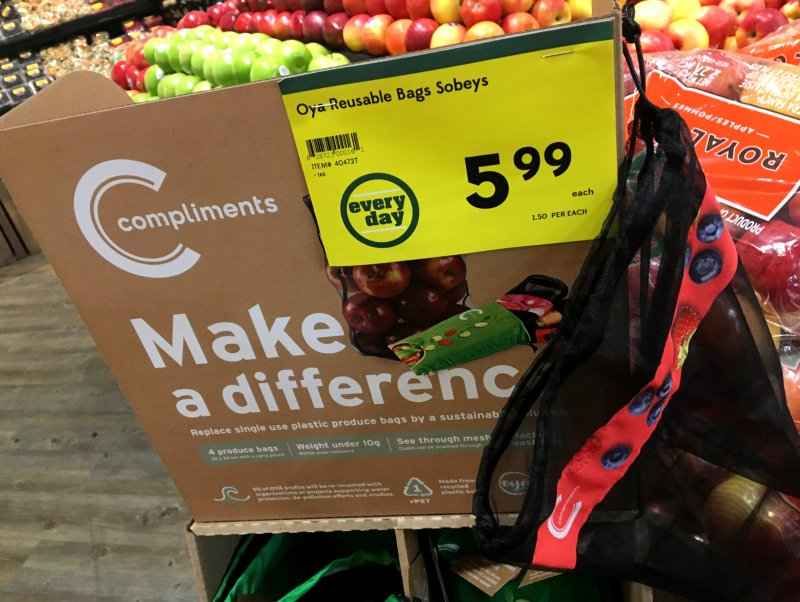 Mesh produce bags from Safeway