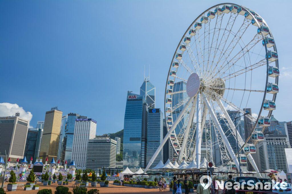香港摩天輪: 中環摩天輪重開後門票20蚊 造價2億港元 摩天輪直徑50米   NearSnake.com