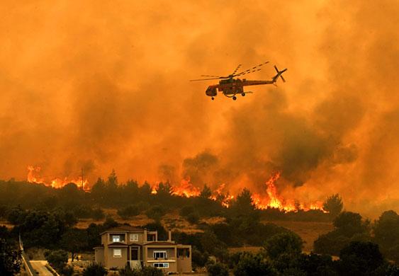 Στο «κόκκινο» ο κίνδυνος φωτιάς την Κυριακή