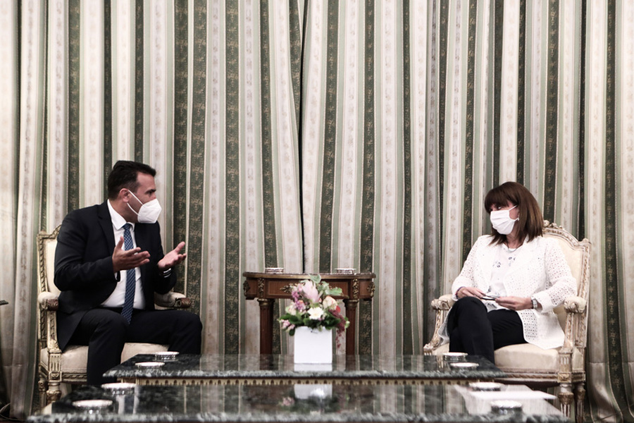 Ζάεφ προς Σακελλαροπούλου: Η Ελλάδα μπορεί να βασίζεται στη Βόρεια Μακεδονία