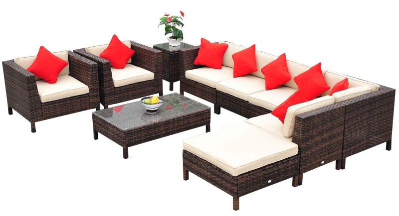 rattan pation furniture set