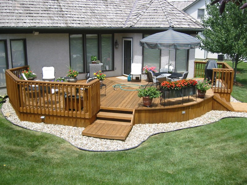 20 Wooden Deck Ideas - Neat And Cozy Home Ideas on Wooded Backyard Ideas id=94830