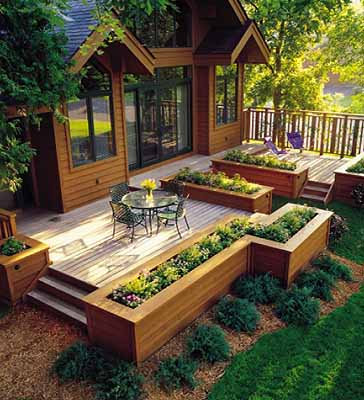 cozy samll wooden deck