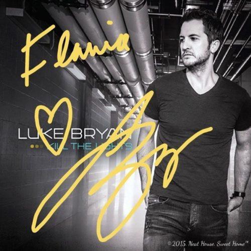 Luke Bryan autograph