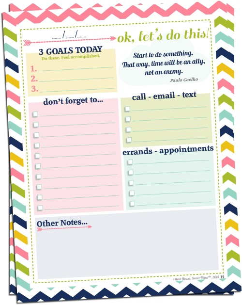 image about Thank You for Your Commit Mint Free Printable referred to as Surroundings Day by day Targets Totally free Printable in the direction of Set up Your Working day