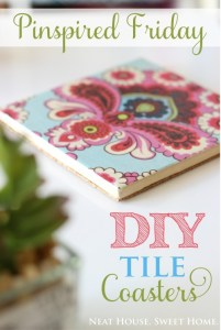 DIY Tile Coasters – Pinspired Friday