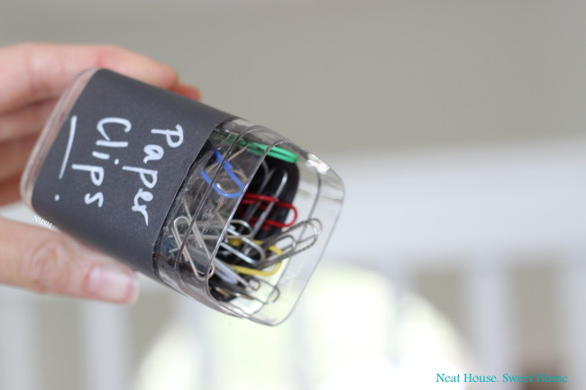 Make your own paper clips dispenser.