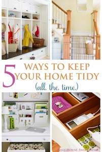 5 Ways To Keep Your Home Tidy