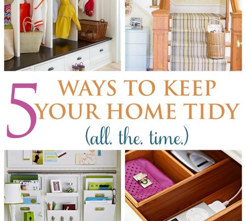 Designate zones to catch all things that make your home look cluttered.