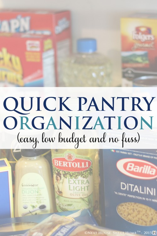 Organizing your pantry should not be costly. I came to realize that sometimes, practicality must prevail.