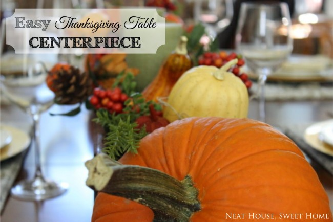 Easy DIY Thanksgiving Tablescape