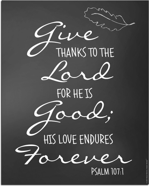 Give Thanks to The Lord - Neat Free Printable