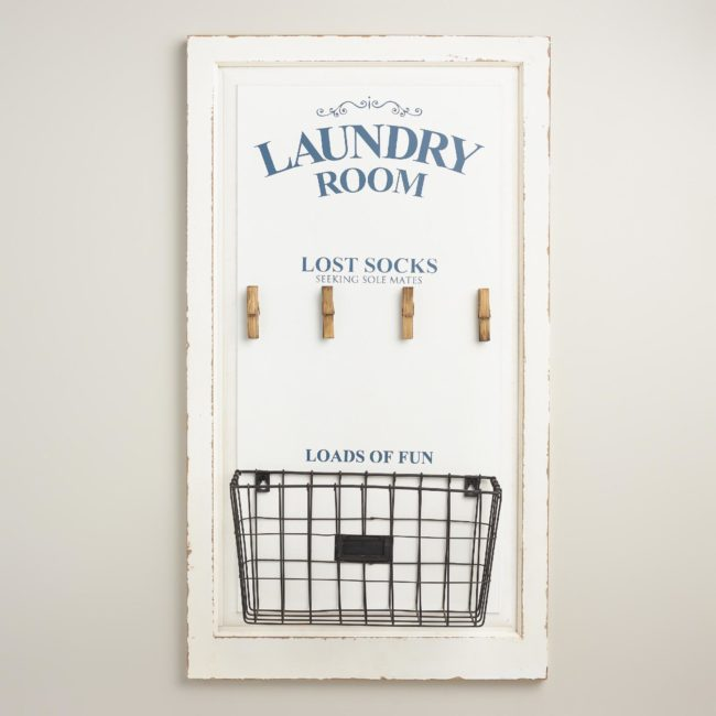 Laundry room wall art - Azure Inspired Laundry Room Design Board