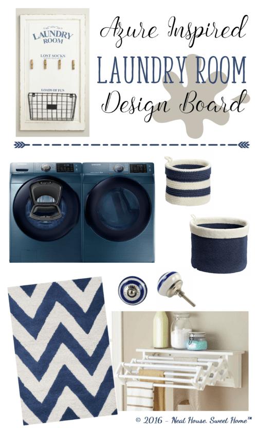 Azure washer & dryer set | Laundry Room Design Board