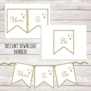 Mom To Be Banner - Twinkle Twinkle Little Star