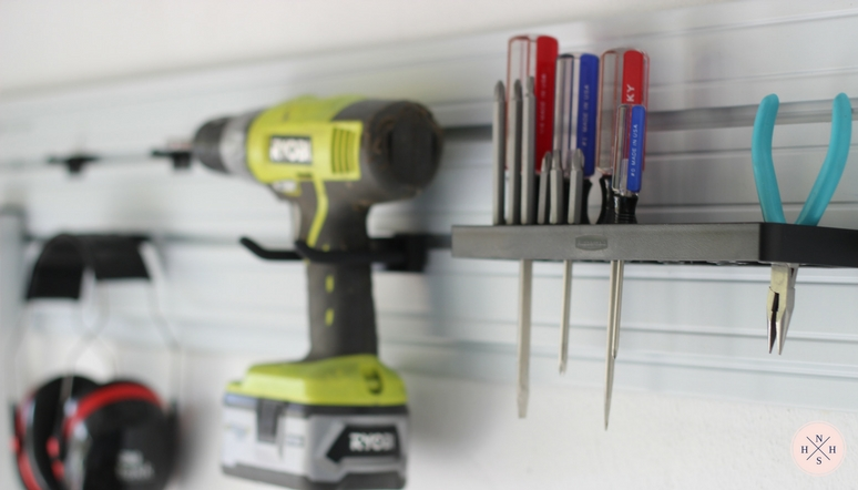Garage organization using vertical storage