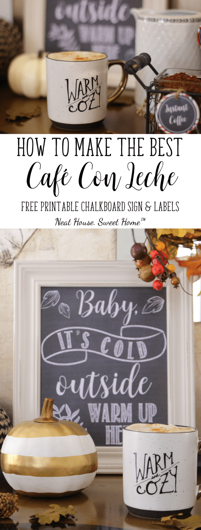 This fall, ditch the overpriced coffee shop and learn how to make cafe con leche that is sweet and creamy. Crush your day with this ridiculously easy recipe. #CupForCrushingIt #sponsored
